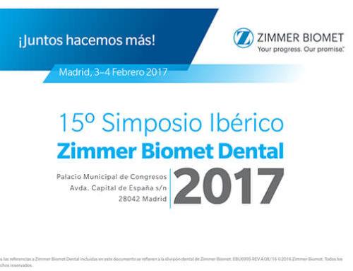 Próxima Conferencia de los Dres. Badanelli y Arias en el 15º Simposio Ibérico Zimmer Biomet Dental 2017