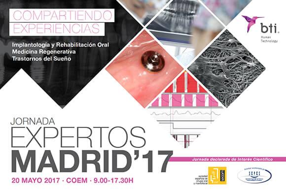 Infórmate aquí sobre la Jornada Expertos Madrid BTI 2017, declarada de interés científico por SEPES. Próximo 20 de mayo en el COEM.