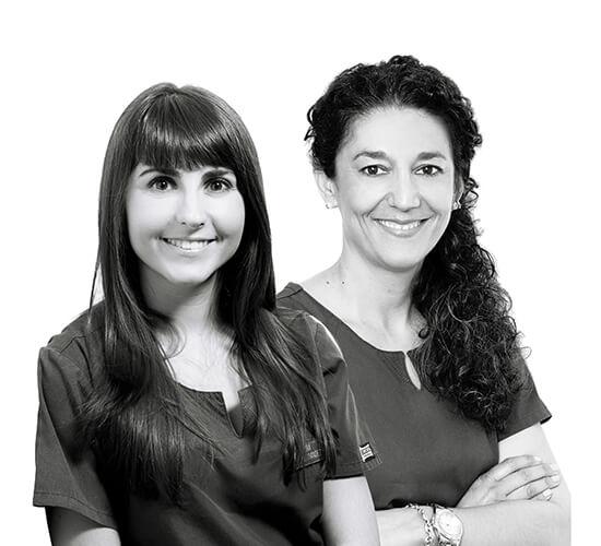 Laura Blas y Gemma Albertos